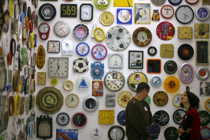 <p> Trong một ngày, có bao nhiêu lần kim đồng hồ trùng nhau?</p>