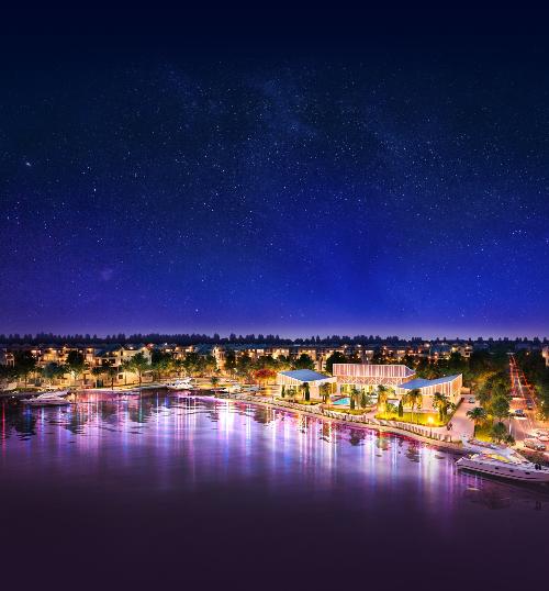 Khu club house và bến du thuyền là dấu ấn độc đáo của Bien Hoa New City