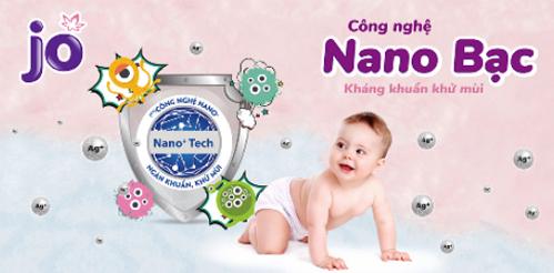 Bỉm JO với nano bạc kháng khuẩn khử mùi, là người bạn thân thiết chăm sóc bé yêu những năm tháng đầu đời