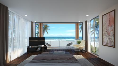 Bên trong một cănbiệt thự Six Miles Coast Resort hướng ra biển Lăng Cô.