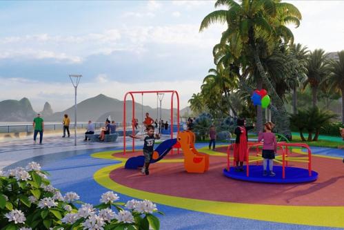 Đường bao biển Trần Quốc Nghiễn sẽ được mở rộng, kết hợp với khuôn viên cảnh quan ngắm vịnh.