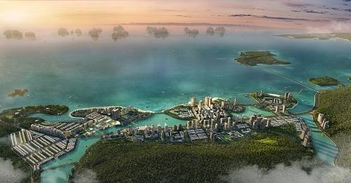 Khu đô thị Halong Marina gồm nhiều sản phẩm bất động sản, hướng vịnh Hạ Long.