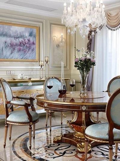 Một mẫu nội thất Casadora theo phong cách sang trọng cổ điển Italy.
