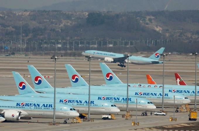 Máy bay của Korean Air tại Sân bay Quốc tế Incheon. Ảnh: Reuters