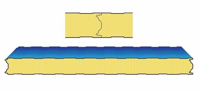 Mô hình mặt cắt các liên kết kín khít khi sử dụng panel Pisocy trong lắp dựng kho lạnh.