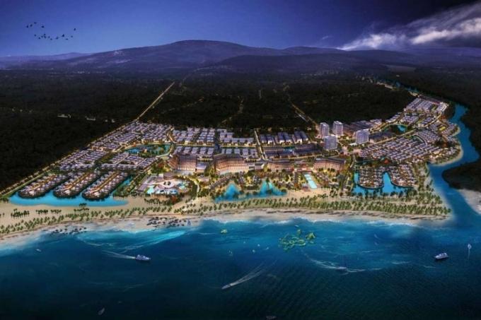 Phối cảnh dự án khu du lịch sinh thái biển cao cấp Lạc Việt.