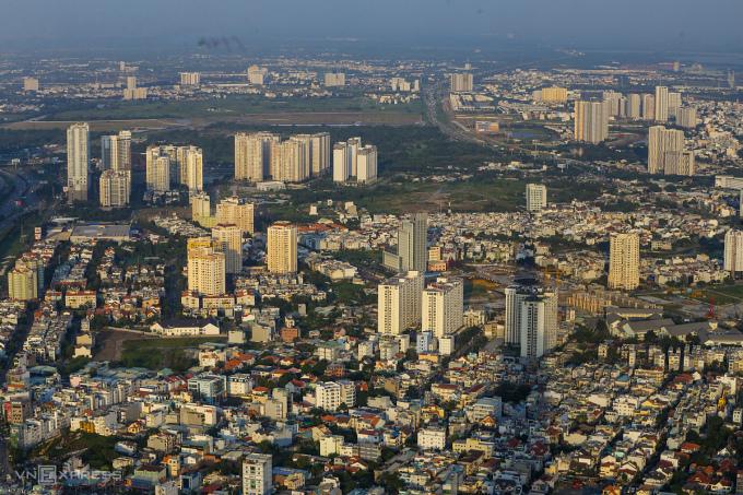 Bất động sản khu đông (quận 2) TP HCM. Ảnh: Quỳnh Trần.
