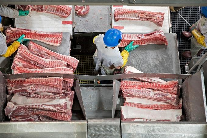 Một cơ sở chế biến thịt heo ở Milan, Missouri, Mỹ. Ảnh: Bloomberg