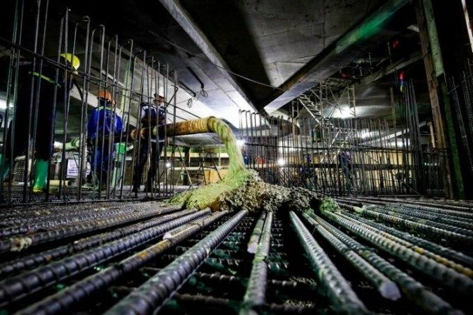 Công nhân Coteccons thi công tầng hầm một dự án tại TP HCM. Ảnh: Coteccons.
