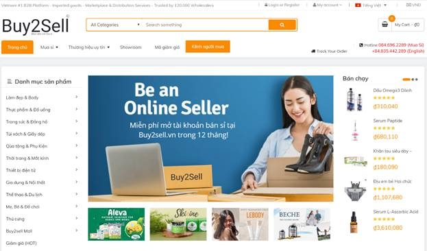 Hình ảnh website Buy2Sell.