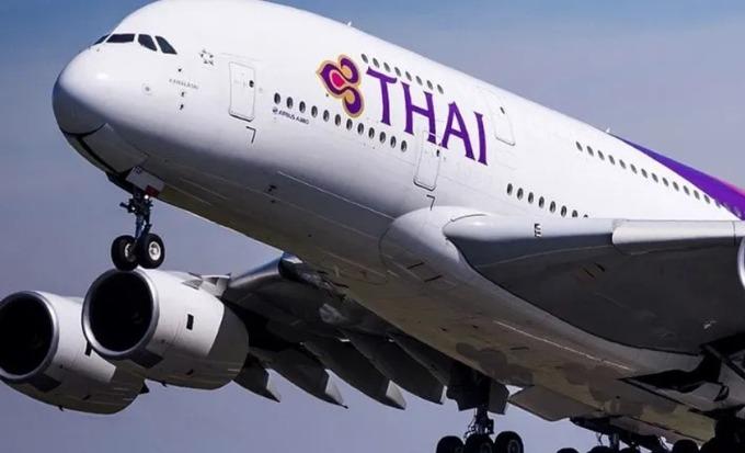 Một chiếc máy bay củaThai Airways đang cất cánh. Ảnh:The Thaiger
