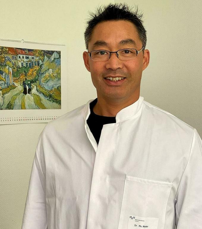 Nguyên Phó Thủ tướng Đức, Tiến sĩ Y khoa Philipp Rösler tạiĐại học Y dược Hannover. Ảnh:Doãn Thúy