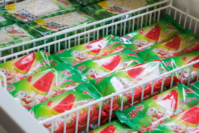 Kem Merino bày bán trong một cửa hàng tiện lợi.