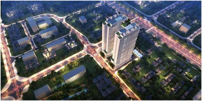 Athena Complex Pháp Vân nằm ở ngõ 161 Ngọc Hồi.