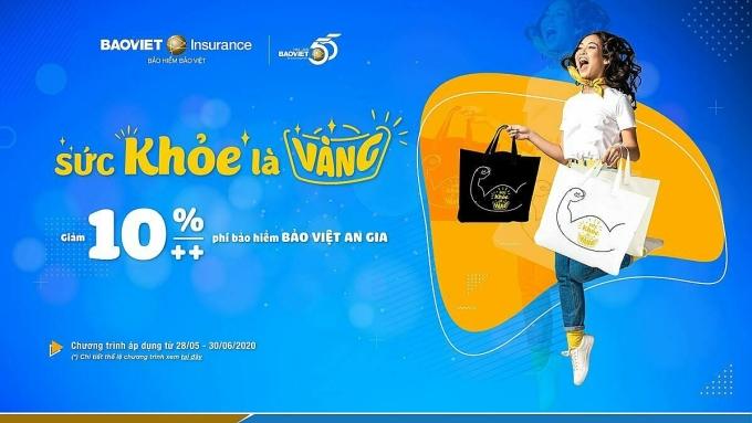 Bảo hiểm Bảo Việt ưu đãi khách hàng qua chương trình Sức khoẻ là vàng