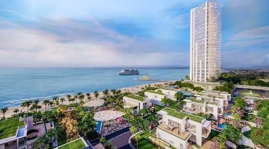 Khu căn hộ Aquamarine tại thành phố Vũng Tàu thể hiện sự giao hòa giữa kiến trúc hiện đại và thiên nhiên mang lại sự trải nghiệm đầy thú vị cho du khách.