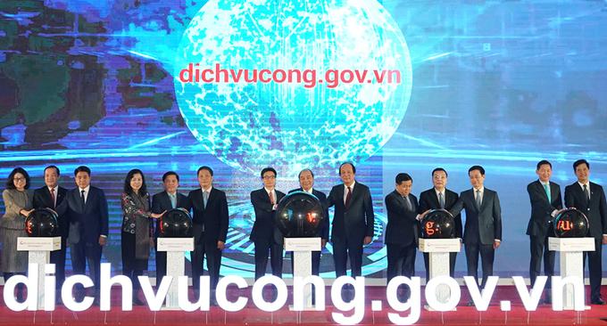 Thủ tướng khai trương Cổng dịch vụ công quốc gia ngày 9/12/2019. Ảnh:Nguyễn Quang Hiếu.