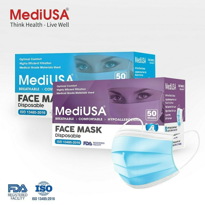 Sản phẩm khẩu trang MediUSA do Công ty TNHH Dược Phẩm Mỹ Phẩm MediUSA sản xuất.