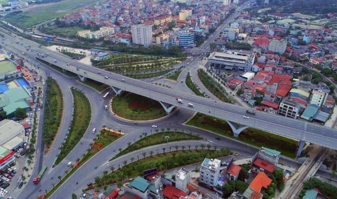 Dự án hạ tầng lớn nhất quận Long Biên là nút giao Long Biên - Nguyễn Văn Cừ (Hà Nội). Ảnh: Giang Huy.
