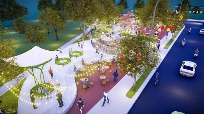Công viên ánh sáng - một trong những tiện ích nổi bật của Đại Phát Mall Town.