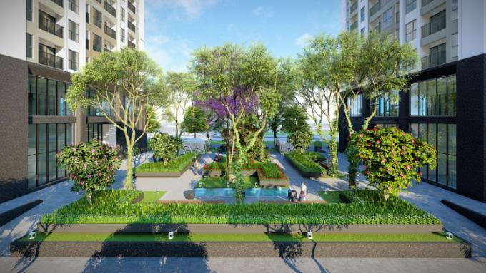 Dự án có không gian rộng rãi, thoáng mát cùng hệ thống tiện ích hiện đại