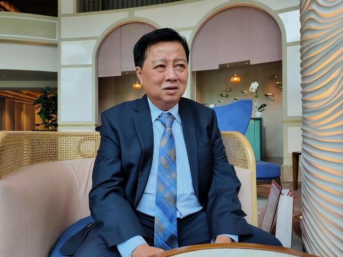 Ông Lương Vạn Vinh, Tổng giám đốc Mỹ Hảo trong buổi trò chuyện ngày 12/6. Ảnh: Viễn Thông