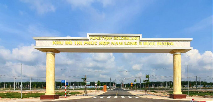 Cổng vào dự ánHưng Thịnh Golden Land.