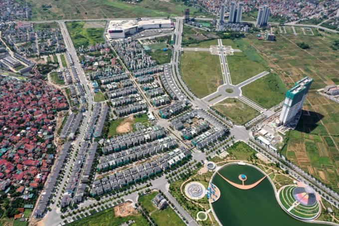 Toàn cảnh khu đô thị Dương Nội nhìn từ trên cao.