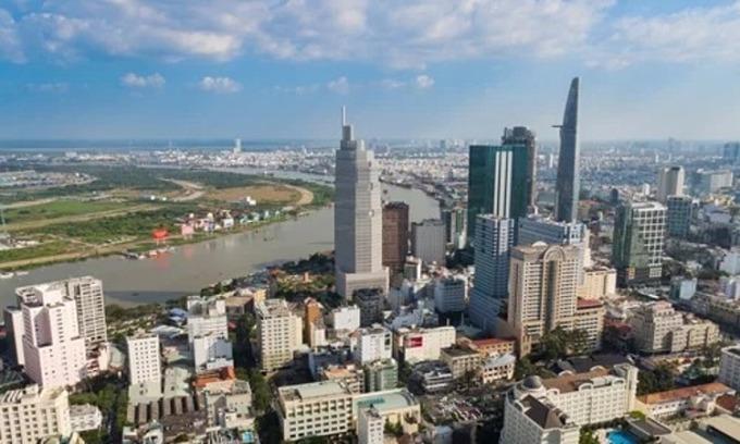 Thị trường bất động sản tại trung tâm TP HCM. Ảnh:Vũ Lê.