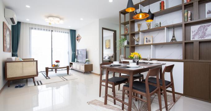 Các căn hộ tại dự án có diện tích từ 52-88m2 (2-3 phòng ngủ), thiết kế khoa học, hiện đại.