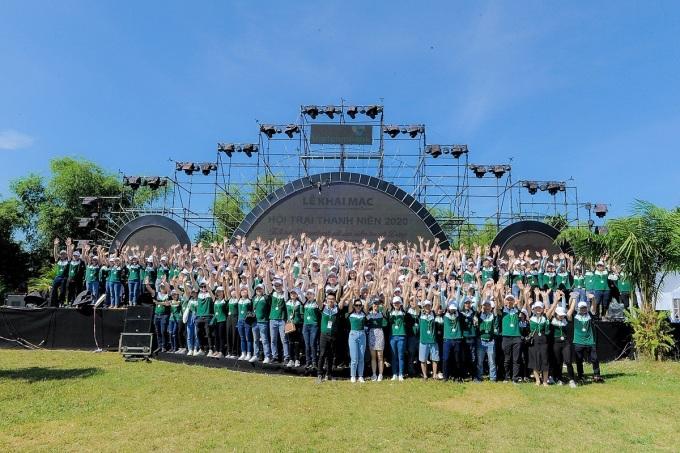 Hơn 700 đoàn viên tham gia hội trại truyền thống Vietcombank.