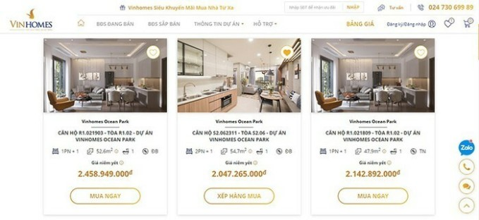 Vinhomes bán nhà trực tuyến thu hút 500.000 người theo dõi