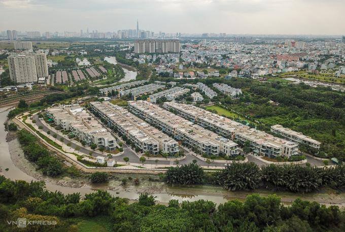 Dự án nhà liền thổ ở quận 9, TP HCM. Ảnh: Như Quỳnh.