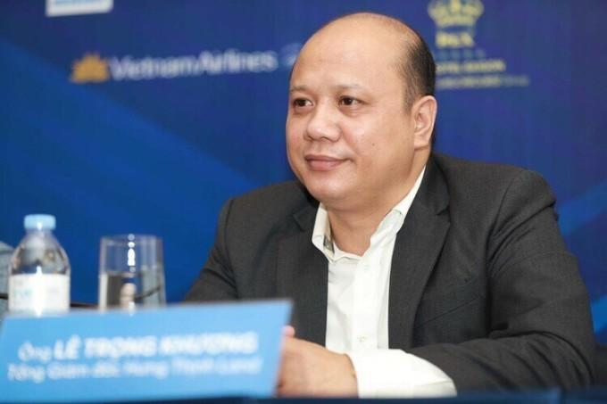 Ông Lê Trọng Khương - Tổng giám đốc Hưng Thịnh Land tại buổi họp báo giải chạy VnExpress Marathon Quy Nhơn 2020 diễn ra ngày 24/6 tại TP HCM. Ảnh: Hữu Khoa.