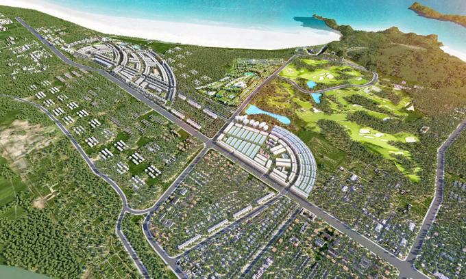 Phối cảnh một dự án tại Quy Nhơn quy mô quỹ đất lên đến nghìn ha do doanh nghiệp TP HCM mua lại và phát triển.