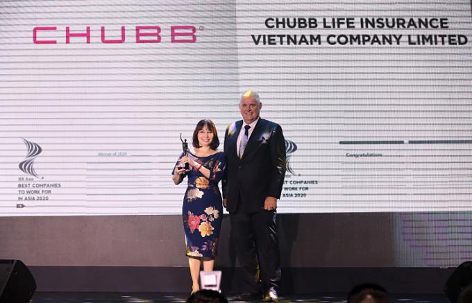 Chubb Life Việt Nam vào top nơi làm việc tốt nhất châu Á
