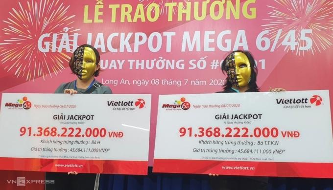 Nhân viên kế toán và bà nội trợ chia nhau Jackpot 91 tỷ