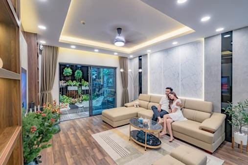 Không gian sống xanh tại các căn hộ Sapphire 2.