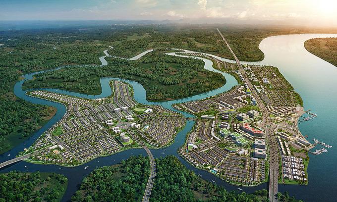 Phối cảnh một dự án vùng ven tại Đồng Nai hút khách TP HCM thời gian qua.