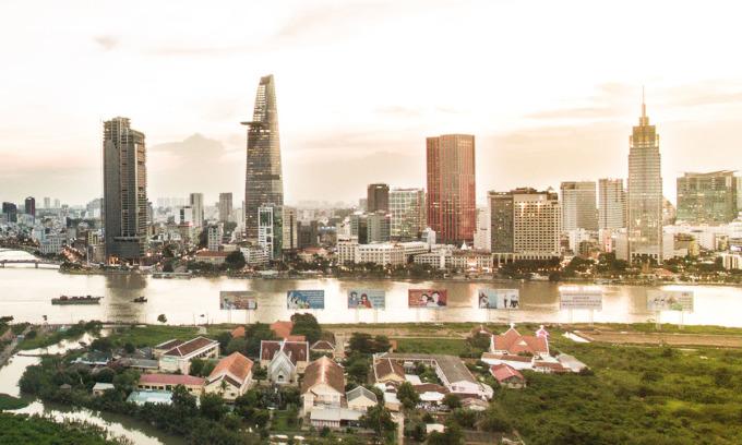 Khu trung tâm TP HCM. Ảnh: Lucas Nguyễn