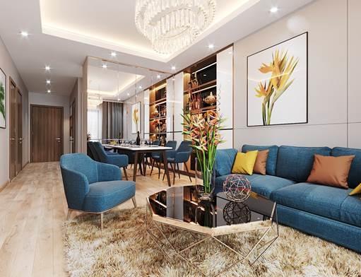 Thiết kế căn hộ được bố trí giúp đón ánh sáng và gió tự nhiên.