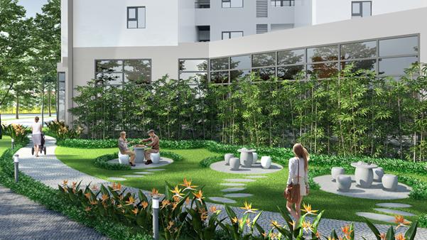 Không gian sống xanh tại Le Grand Jardin.
