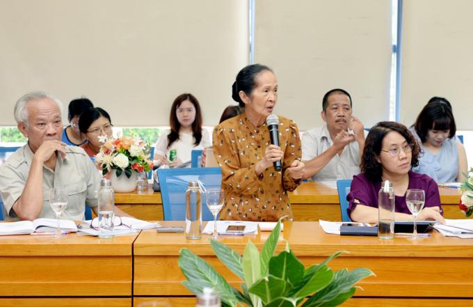 Bà Phạm Chi Lan phát biểu tại sự kiện sáng 29/7. Ảnh: Đại học kinh tế quốc dân.