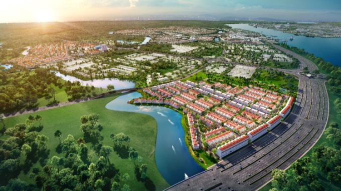 River Park 1 tọa lạc tại cửa ngõ Aqua City, ngay trên mặt tiền Hương Lộ 2 lộ giới 60m kết nối trực tiếp vào cao tốc TP HCM - Long Thành - Dầu Giây.