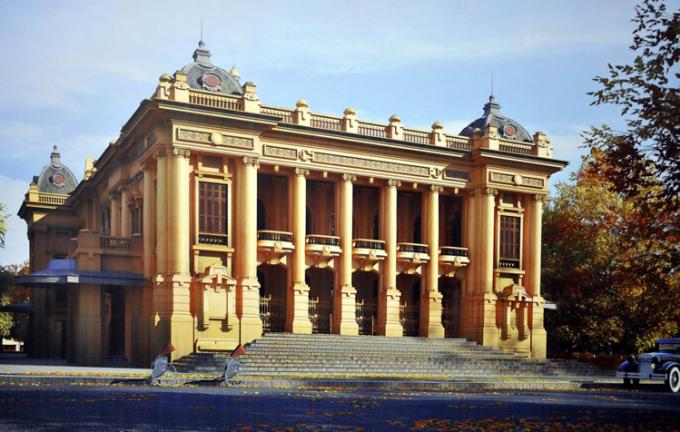 Nhà hát lớn Hà Nội là một trong những công trình mang kiến trúc Pháp đặc trưng.