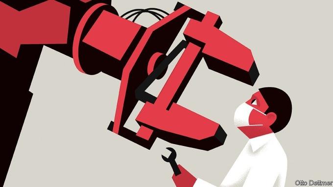 Thất nghiệm vì bị robot thay thế trong đại dịch không phải là nguyên nhân phổ biến. Ảnh: Otto Dettmer