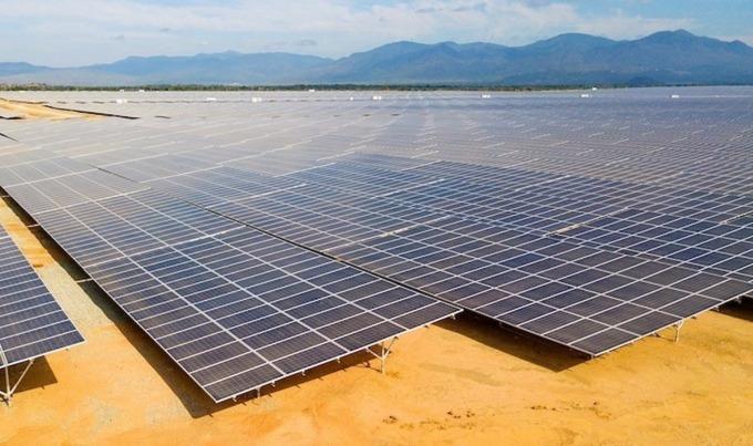 Một dự án điện mặt trời được đầu tư, xây dựng tại tỉnh Ninh Thuận. Ảnh: Anh Minh
