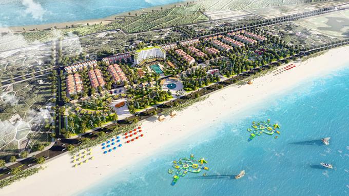 Phối cảnh dự án Trà Cổ Long Beach Luxury.