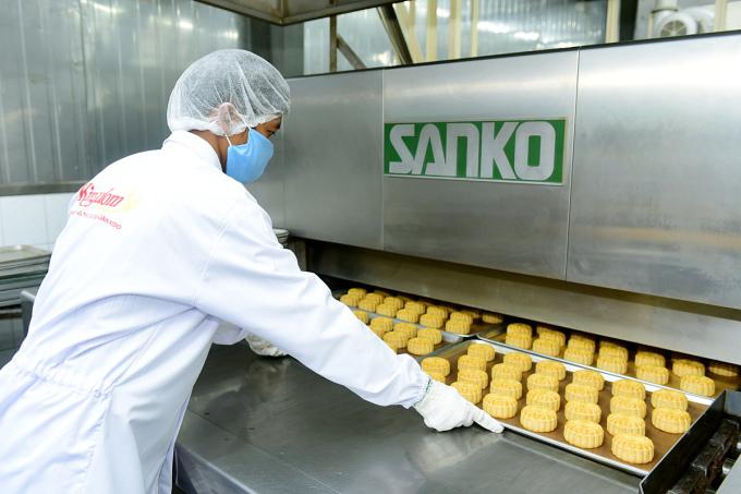 Xưởng sản xuất bánh trung thu KIDO. Ảnh: Tuyết Nga.