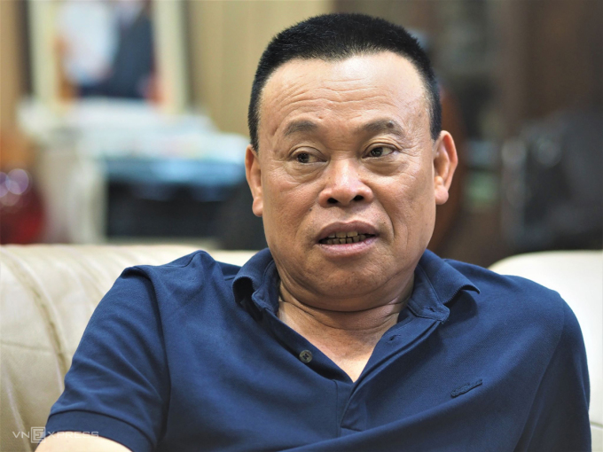 Ông Nguyễn Như So - Chủ tịch Dabaco chia sẻ tại trụ sở công ty ở Bắc Ninh. Ảnh: Minh Sơn.